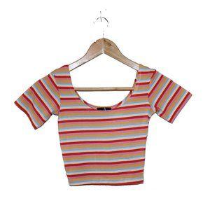 💫 3/$30 - NWOT Topshop Striped Crop Top